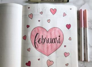 bullet journal setup voor februari