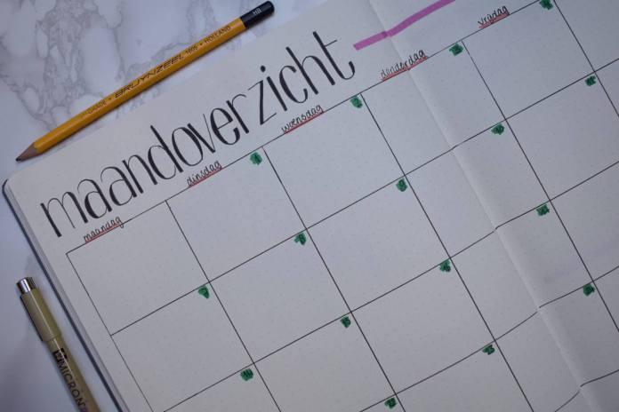 Mijn bullet journal setup voor mei