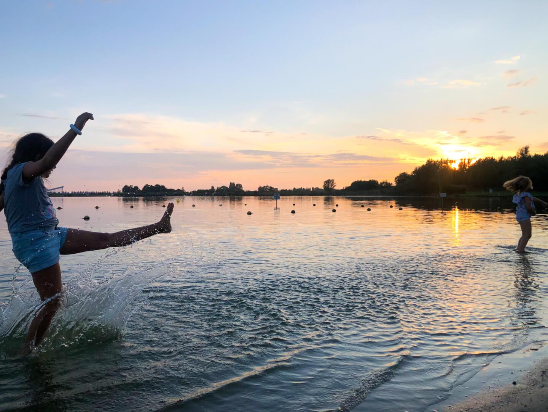 zomervakantie van 2020 zonsondergang