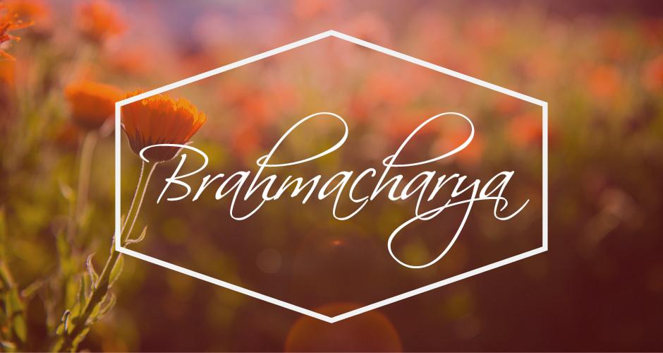 """Brahmacharya tradicionalmente se entiende como el """"comportamiento que conduce a Brahman"""","""
