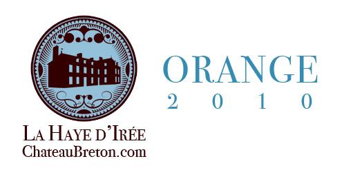 etiquette Haye d'Irée 2010 orange