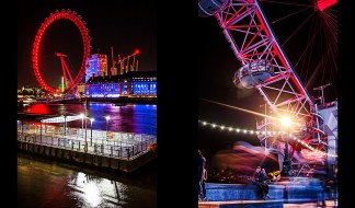 The London Eye across river Thames