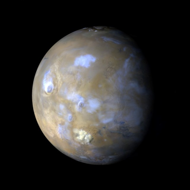 Global view of Mars from the Mars Reconnaissance Orbiter Mars Color Imager (MARCI)