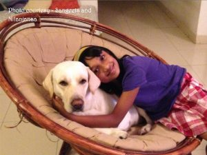 Nilanjana with her adorable pet