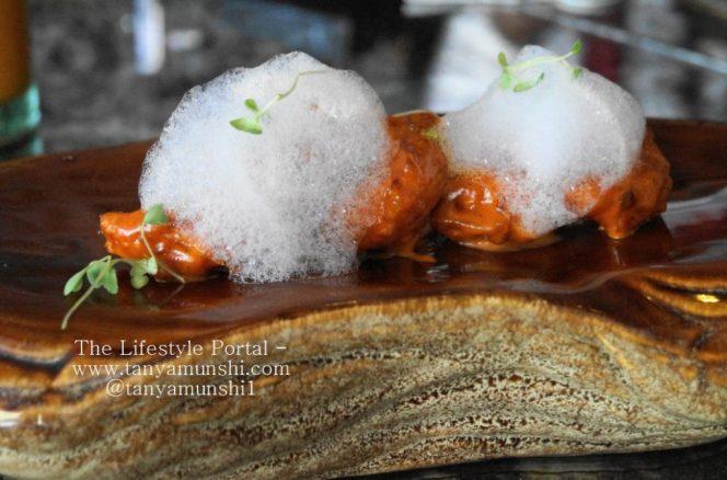 Black Pepper and Golden Garlic Prawns with braised bok choy