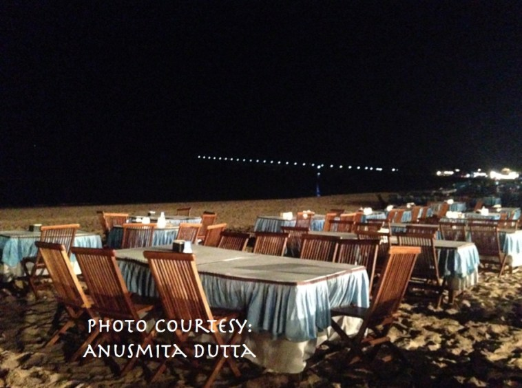 Jumbaran Restaurant by the Sea beach, popular Hindi movie songs are crooned by local entertainers on seeing Indian visitors