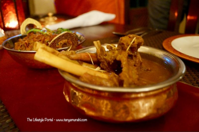 Shahi Nihari - lamb simmered in royal spices @ Baluchi, The LaLit