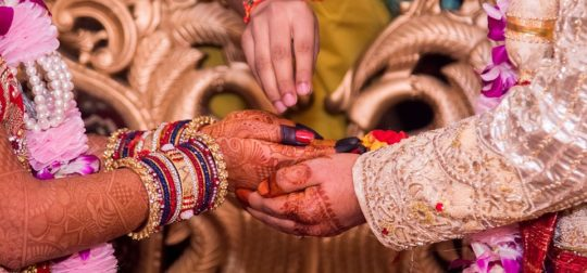 Indian Wedding - newly weds