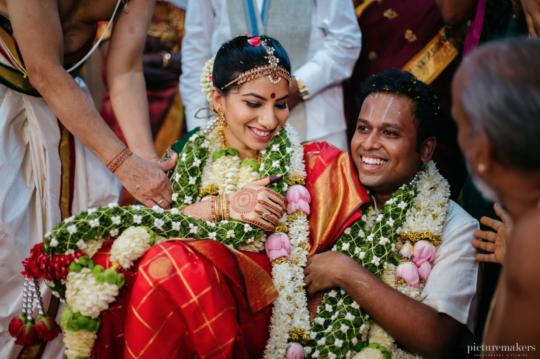 Shreya and Praveen - Photo courtesy: The Wedding Wishlist