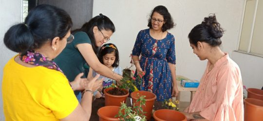 Getting hands on experience. Photo courtesy: Reema's Garden