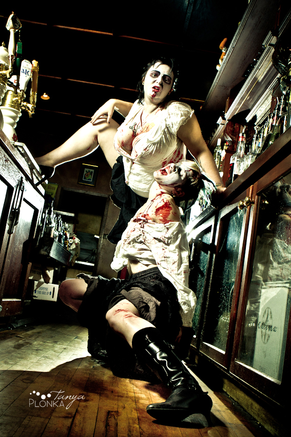 Zombie Pinups Beth  Karla the bar wenches  Blog