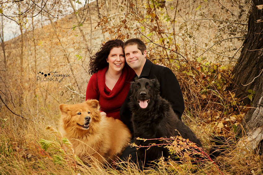 Irene Jed and the fur babies  Lethbridge Couple and Dog