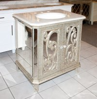 Antiqued Mirrored Bathroom Vanity BA948529