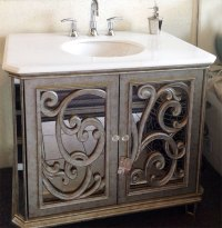Antiqued Mirrored Bathroom Vanity BA948533