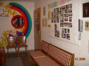 Eingangsbereich Pinwand