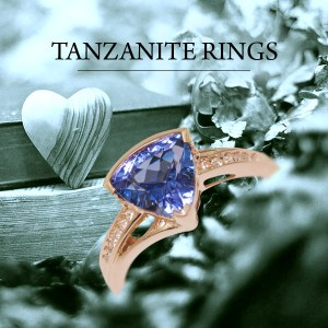 tanzanite rings trillion cut