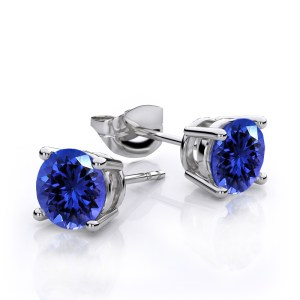 14k White Gold Stud Earring