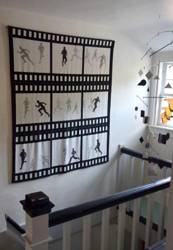 Runner weaving on wall-web