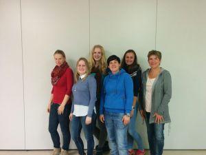 Der neue Vorstand (v.l.: Katja Burger, Eleonora Unruh, Janine Kulmus, Kristina Marino, Carolin Serger, Martina Pütz)
