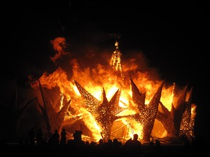 Burning Man bonfire