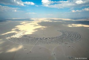 Burning Man aerial