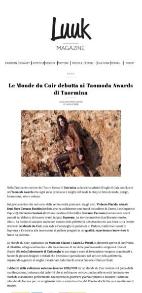 Le Monde du Cuir debutta ai Taomoda Awards di Taormina – Luuk Magazine (2018-07-29 20-17-23)