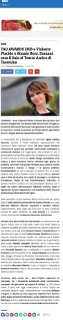 TAO AWARDS 2018 a Violante Placido e Alessio Boni. Domani sera il Gala al Teatro Antico di Taormina - Hashtag Sicilia (2018-07-29 20-38-21)
