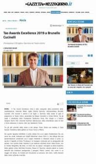 Tao Awards Excellence 2019 a Brunello Cucinelli - La Gazzetta del Mezzogiorno