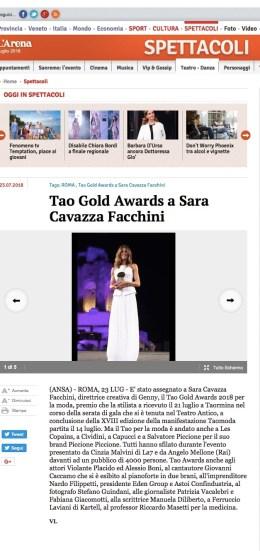 Premi a Cividini e Les Copains, Violante Placido ed Alessio Boni