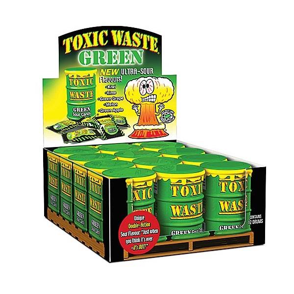 Afbeeldingsresultaten voor toxic waste green sour candy