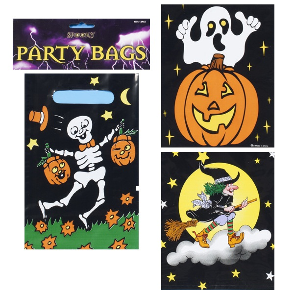 loot bags, party bags, skeletons, witches, pumpkins, halloween trick or treat at halloween taos gifts