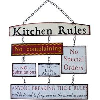 Kitchen Rules - Sentimental Signs - Hanging Metal Wall ...