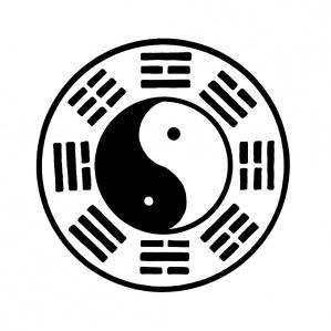 Yin Yang Prayer Flag