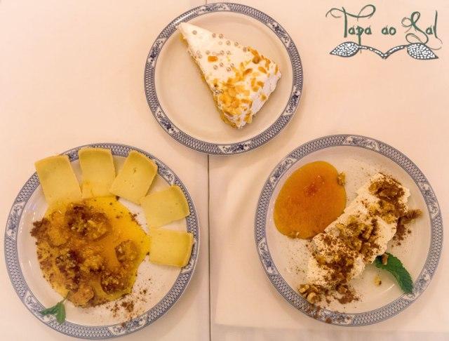 Sobremesas do restaurante regata