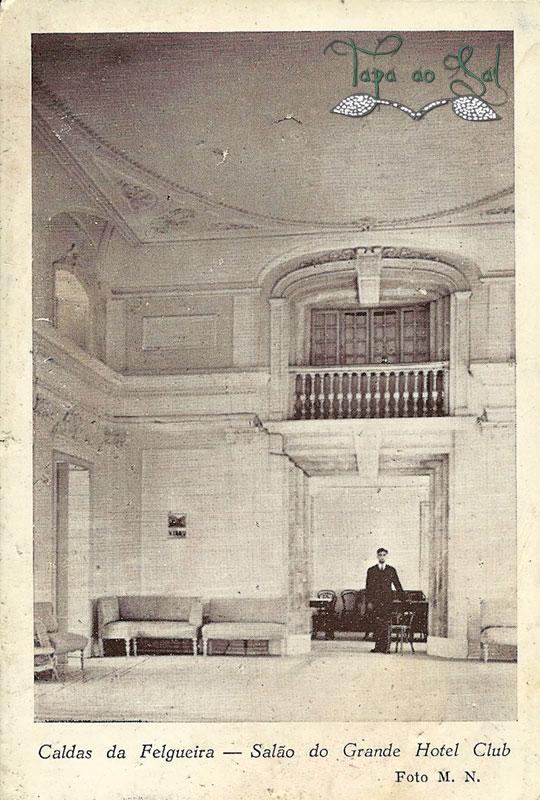 salão antigo no grande hotel das caldas da felgueira