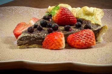 tarte de ganache de chocolate receita