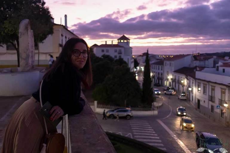 Aprecio o centro histórico de Évora
