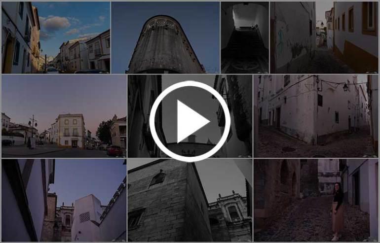 Álbum de fotografias do centro histórico de Évora