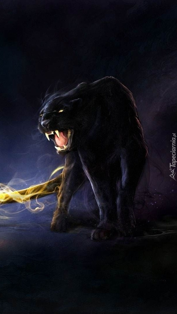 Black Panther Animal Wallpaper Groźna Czarna Pantera Tapeta Na Telefon