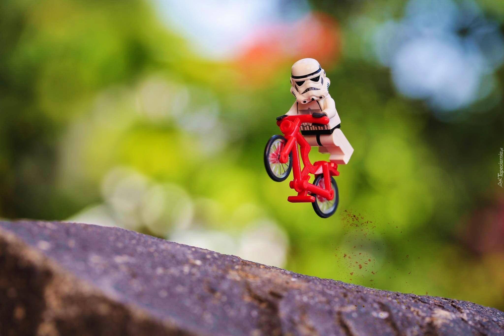 Rowerek Ludzik Klocki Lego