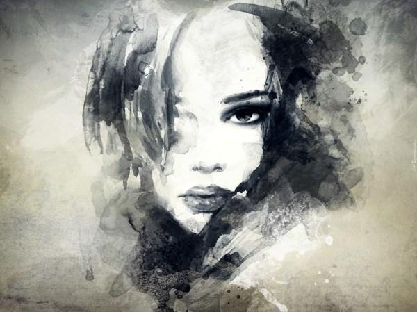 Dziewczyna Rysunek Twarz Spojrzenie