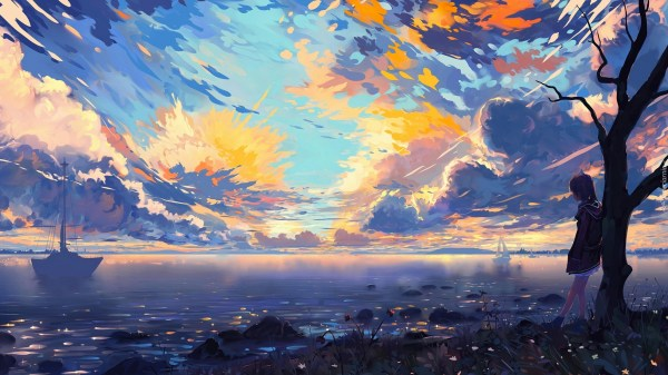 Anime Digital Art Scenery