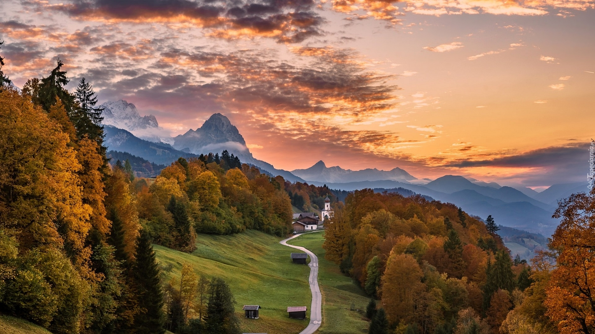 Fall Mountain Scenery Wallpaper Tapety Niemcy