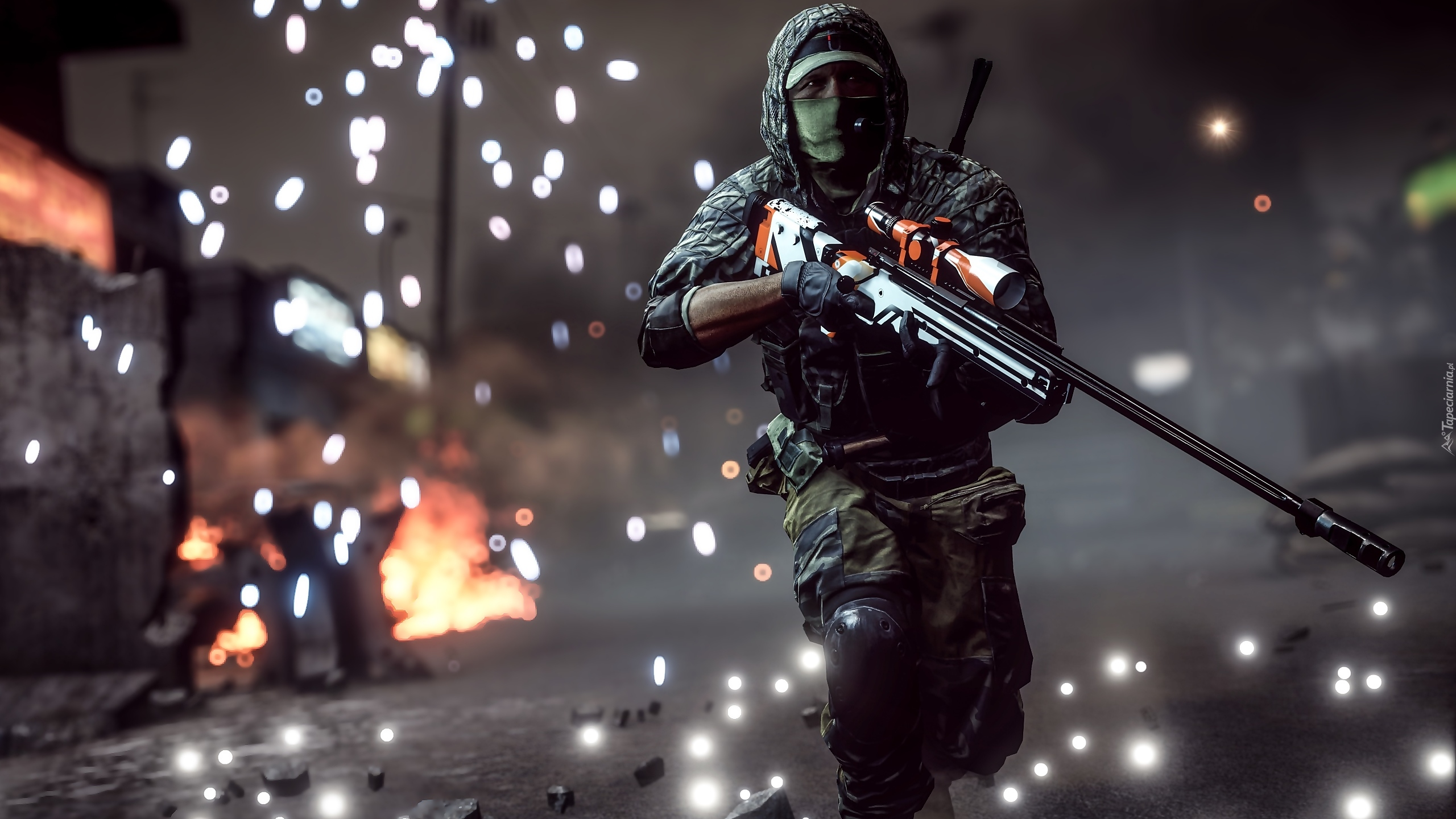 Wallpaper Pubg Żołnierz Z Karbinem W Scenie Z Gry Battlefield 4
