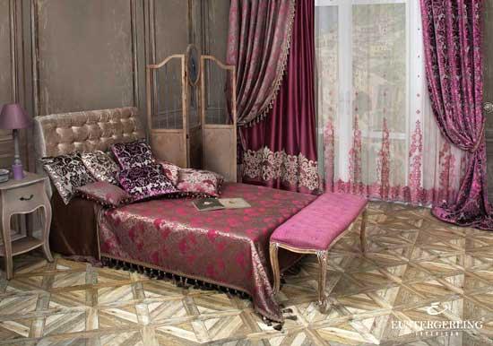 Wohnzimmer Gardinen Lila