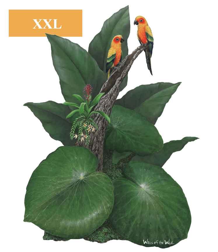 Wandsticker Dschungel Pflanze Tropen Papagei  tapetenwelt