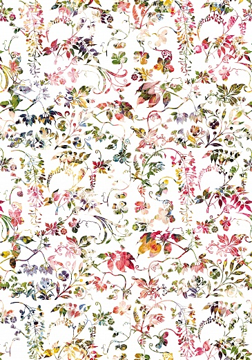 Designer Tapete Blumenmuster  romantisch heiter  Tapeterie