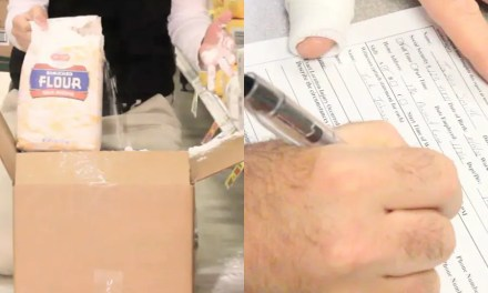 What are the risks of opening a carton with a knife?