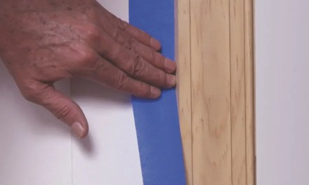How do I apply and remove painter's tape?