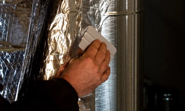 When should I use a film tape over a foil tape in HVAC applications?